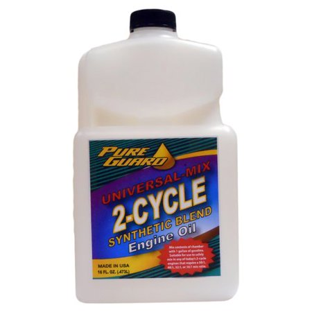 Pure guard universal mix 2 cycle oil 16 oz for Pure synthetic motor oil