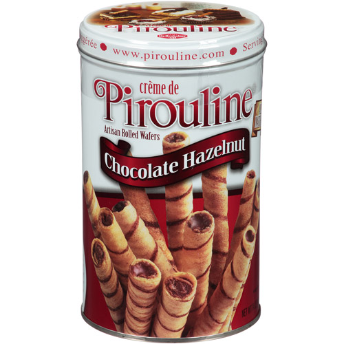 Creme de Pirouline Chocolate Hazelnut Artisan Rolled Wafers, 14 oz, (Pack of 6)