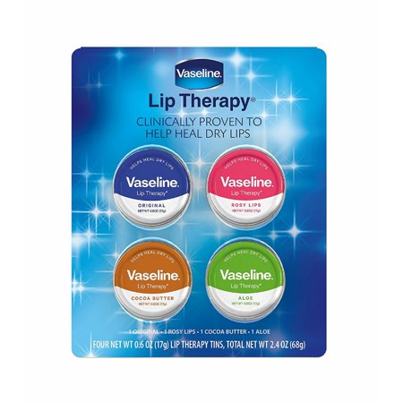 Vaseline Lip Therapy - 4 Tins