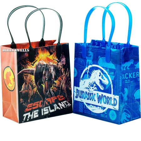 Jurassic World 12 Party Favors Reusable Goodie Small Gift Bags 6