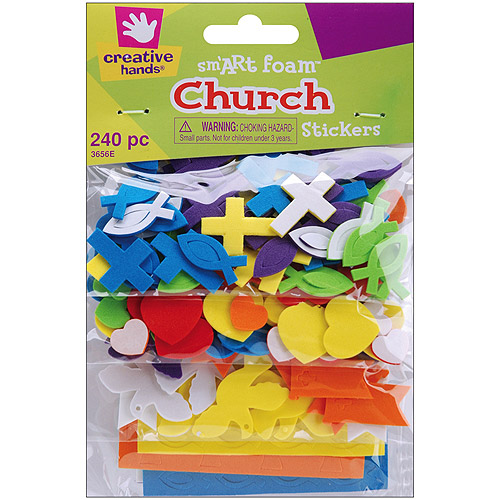 Foam Stickers Mini Church, 240pk