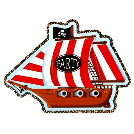 Pirate Party 'Jolly Roger' Invitations w/ Envelopes