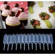 50 Pieces Plastic Squeeze 4ml Transfer Pipettes Dropper For Cupcake Ice Cream