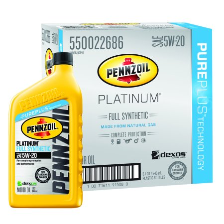pennzoil platinum 5w 20 full synthetic motor oil 1 qt