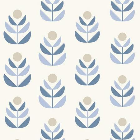 Beacon House Oslo Blue Geometric Tulip Wallpaper