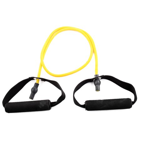 Gym Exercise Rubber Pull Up Training Powerlifting Stretch Resistance Tube Yellow