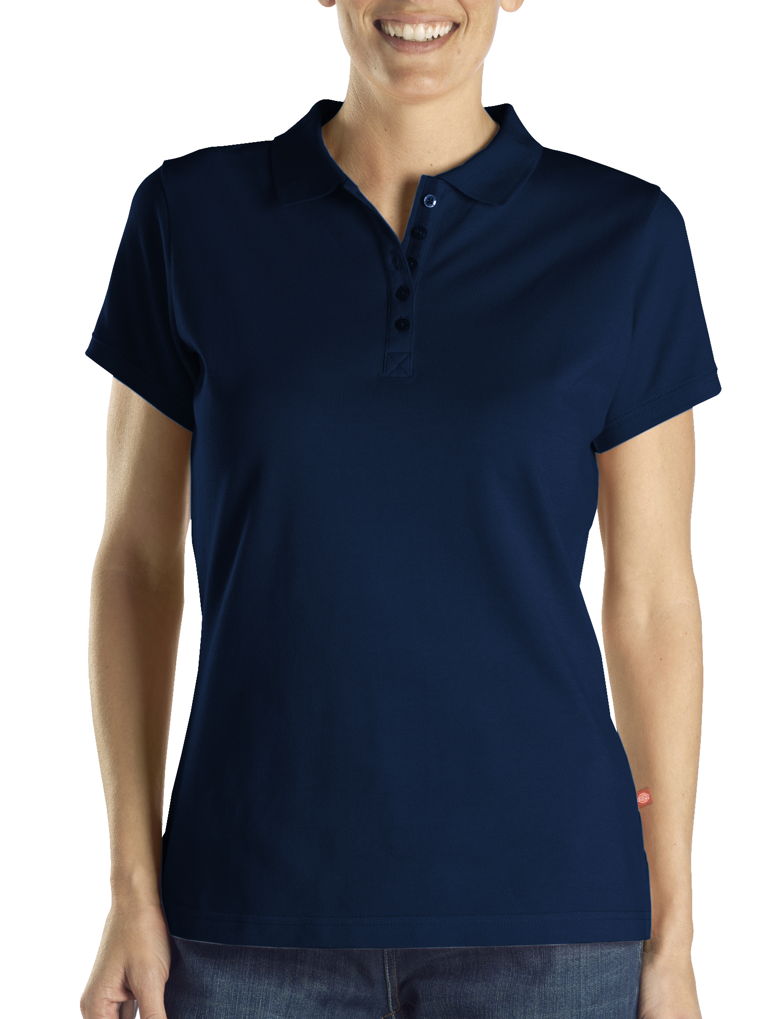Dickies Women's Solid Pique Polo