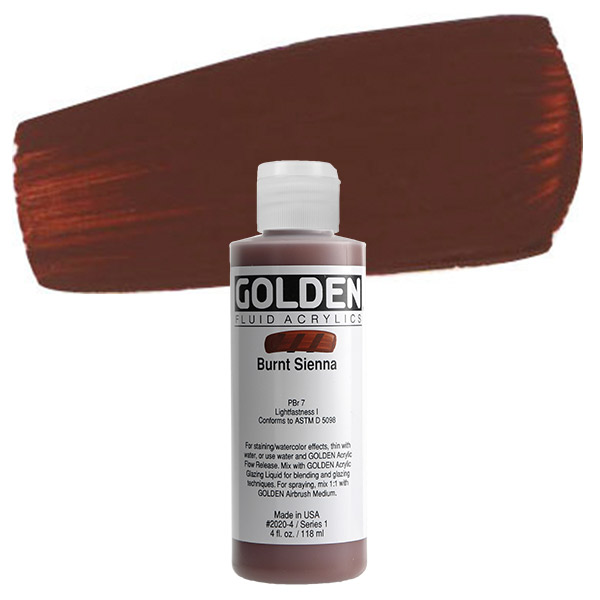 Golden Artist Colors 4 Oz Fluid Acrylic Color Paint