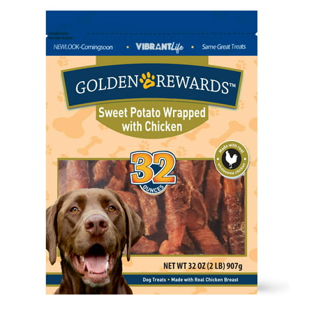 Golden Rewards Sweet Potato Wrapped with Chicken Dog Treats, 32 oz (Easy Halloween Dog Treats)