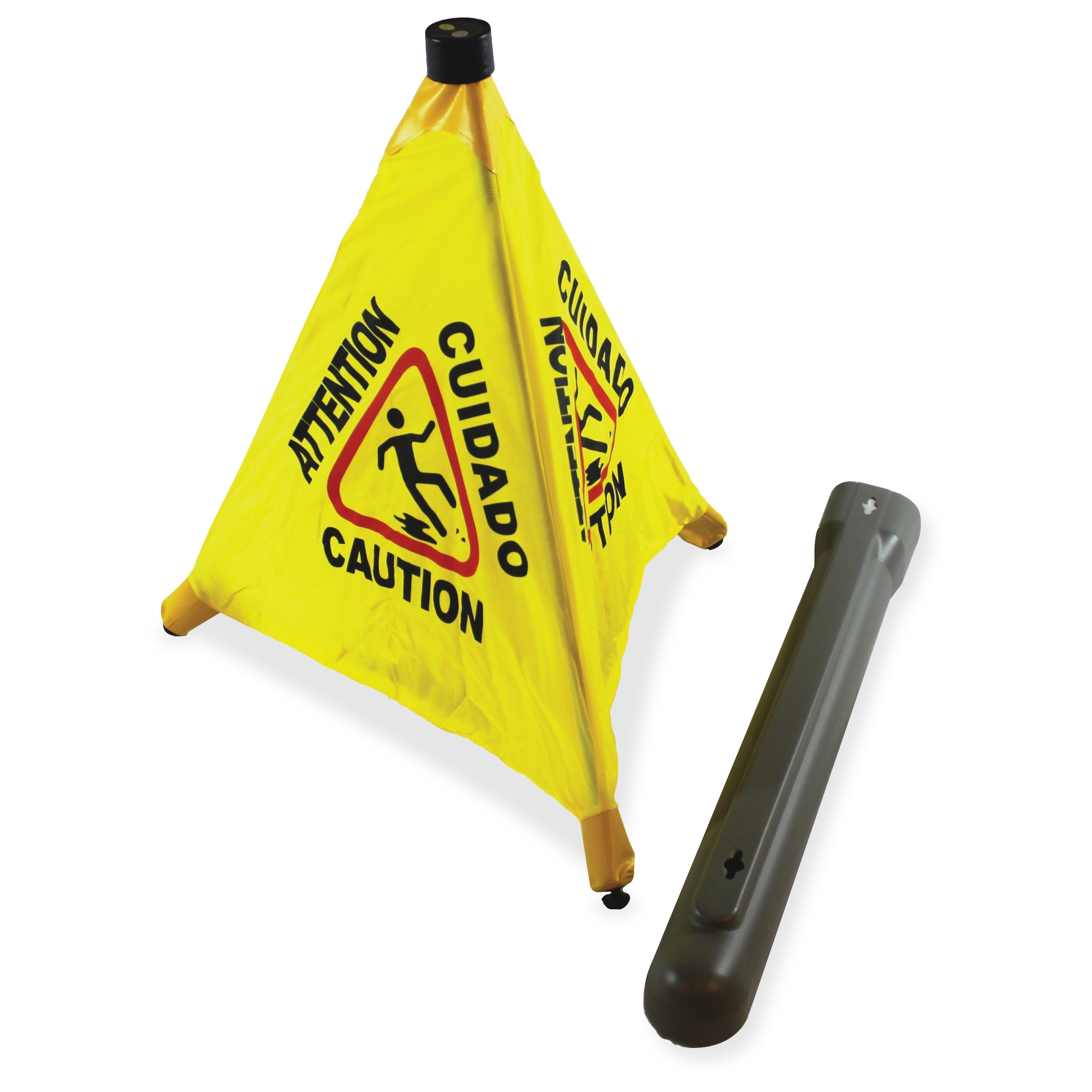 "Impact Products Pop Up 20"" Safety Cone - 20"" Height - Plastic - Yellow, Black (imp-9183)"