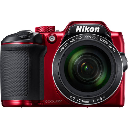 Nikon Red COOLPIX B500 Digital Camera with 16 Megapixels and 40x Optical Zoom by Nikon