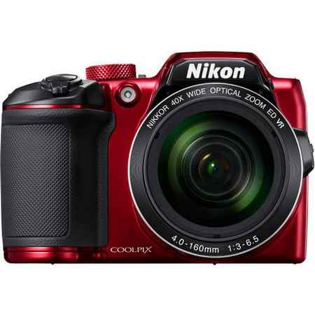 Nikon Red COOLPIX B500 Digital Camera with 16 Megapixels and 40x ...