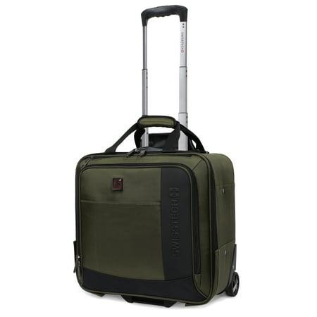 SwissTech Urban Trek 16.5u0022 Under-seater Carry On Luggage, Olive (Walmart Exclusive)