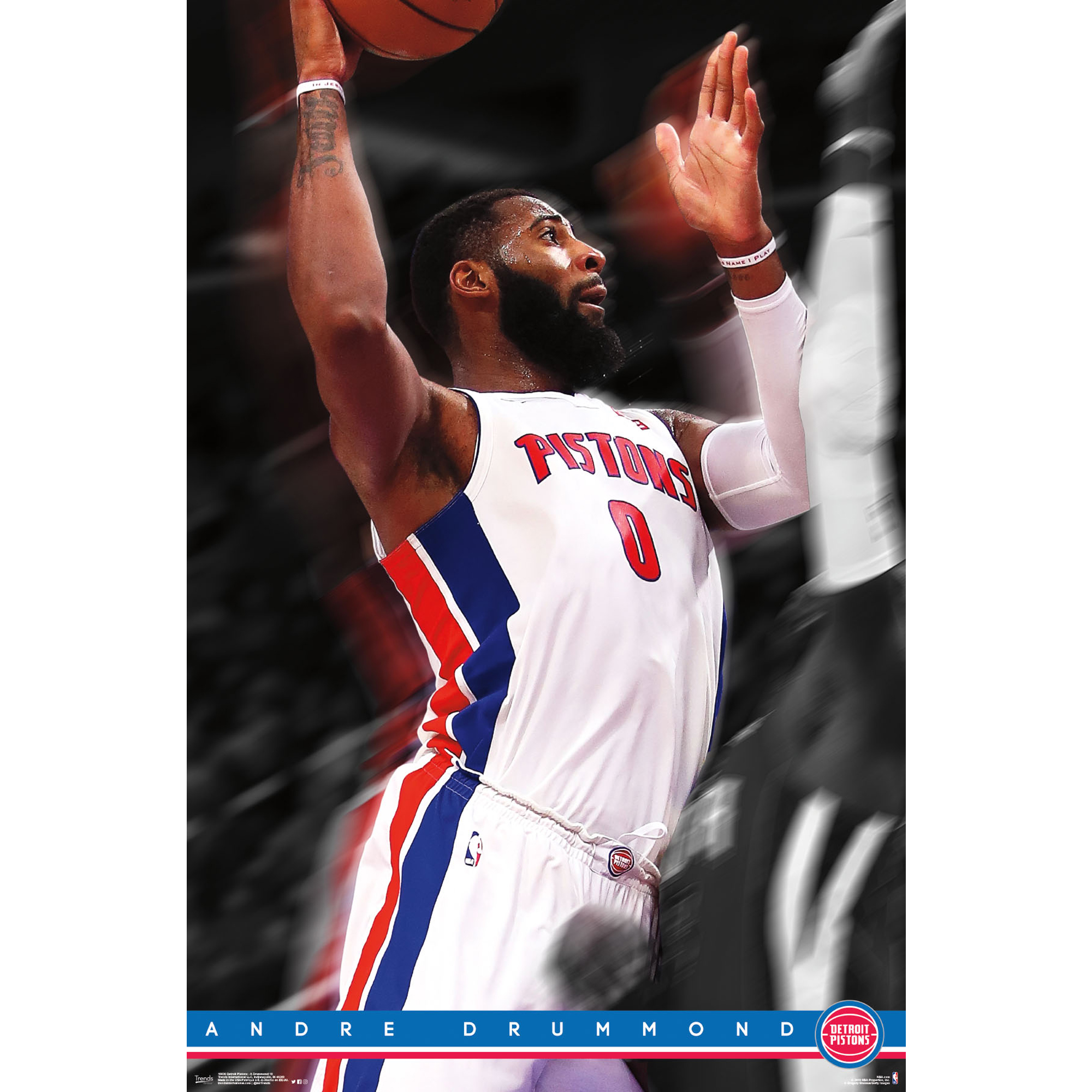 Andre Drummond Detroit Pistons 22'' x 34'' Player Poster - No Size