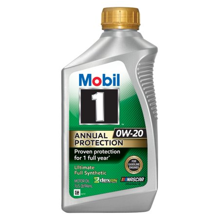 Mobil 1 Annual Protection Full Synthetic Motor Oil 0W-20, 1 Quart