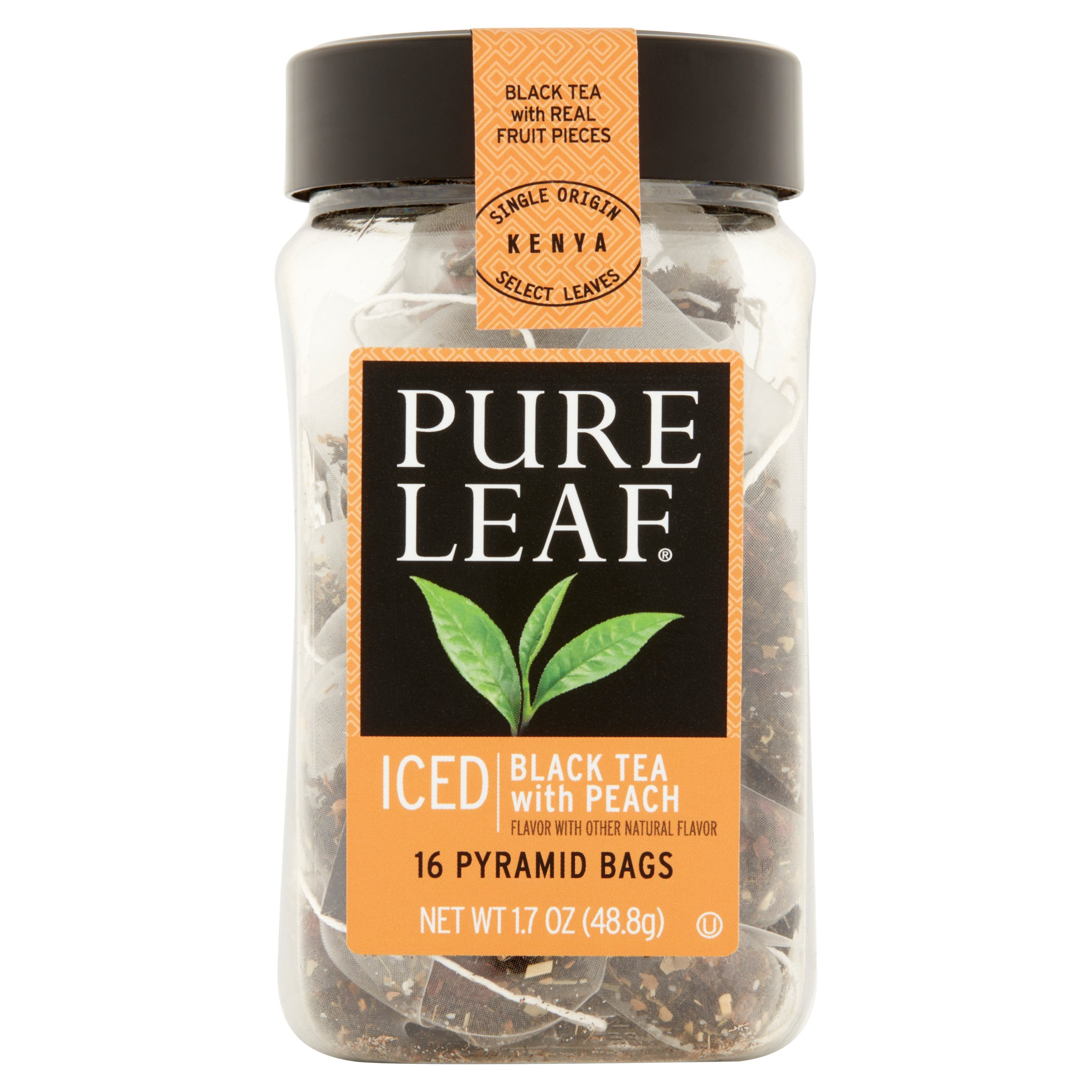 Pure Leaf Tea Bags Black Tea with Peach 16 ct