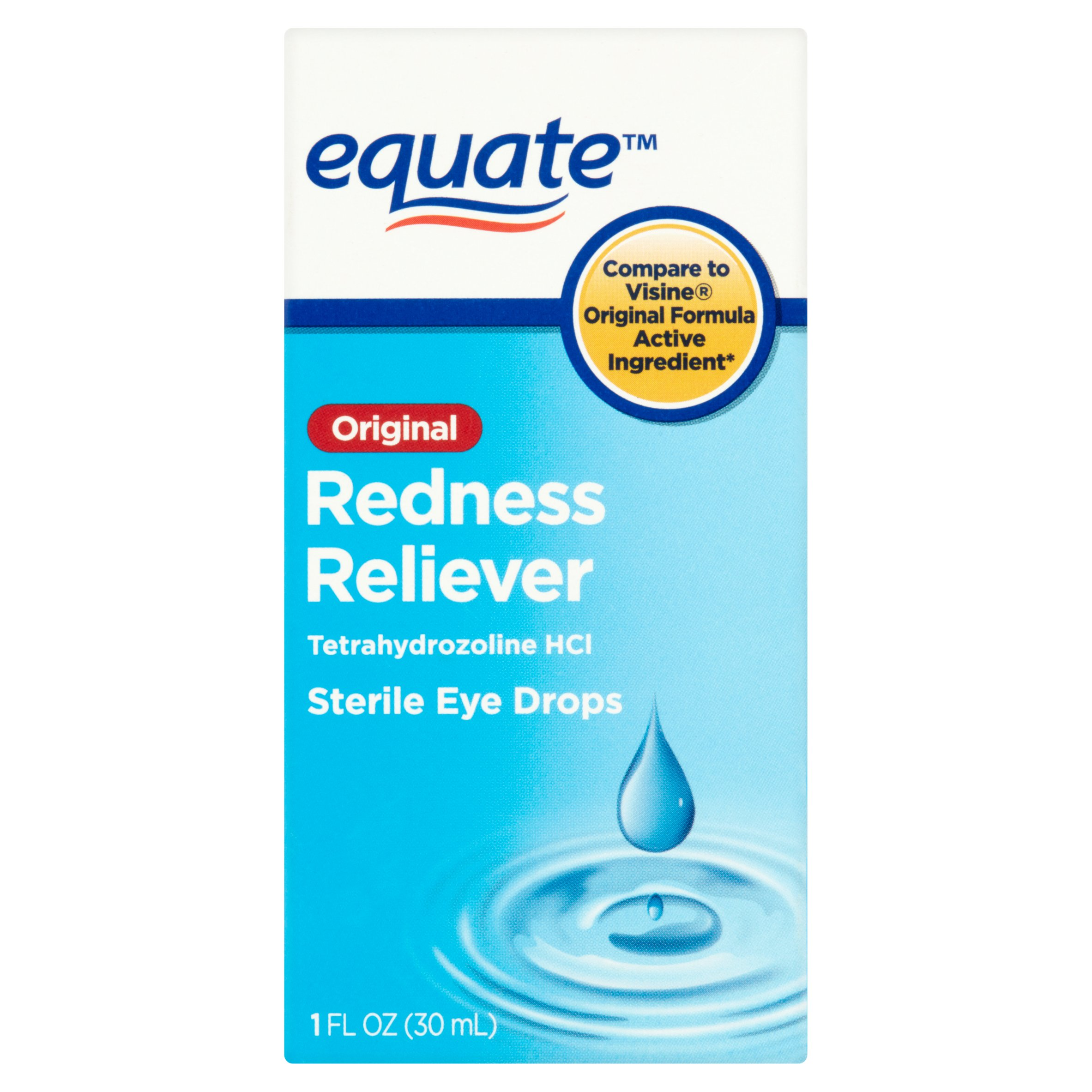Equate Original Redness Reliever Sterile Eye Drops, 1 Oz