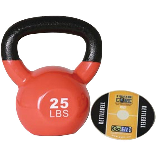 GoFit 25-lb Premium Kettlebell with Training DVD