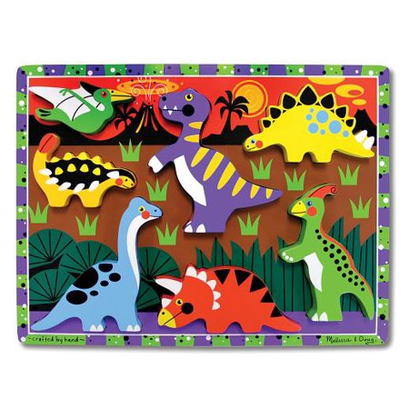 Melissa & Doug Dinosaur Wooden Chunky Puzzle (7 pcs) Melissa & Doug Toys Dinosaur Floor Puzzle