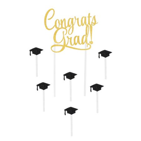 The Beistle Company Congrats Grad Cake Topper (Graduation Cakes Ideas)