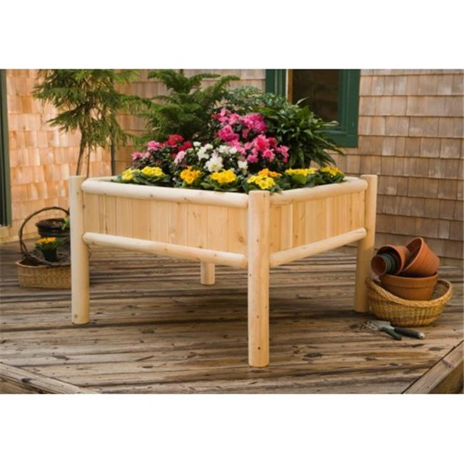 Rustic Natural Cedar Furniture 3114431 Raised Garden Planter