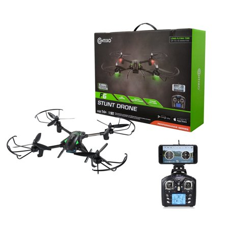 Contixo F6 RC Quadcopter Racing Drone 2.4Ghz 6-Axis Gyro with 720P Rotating HD Camera, FPV Live Feed, Headless, 18 Minutes Flight Time, 360 Flips, Mobile App, Hover, VR (Best Live Camera Feeds)