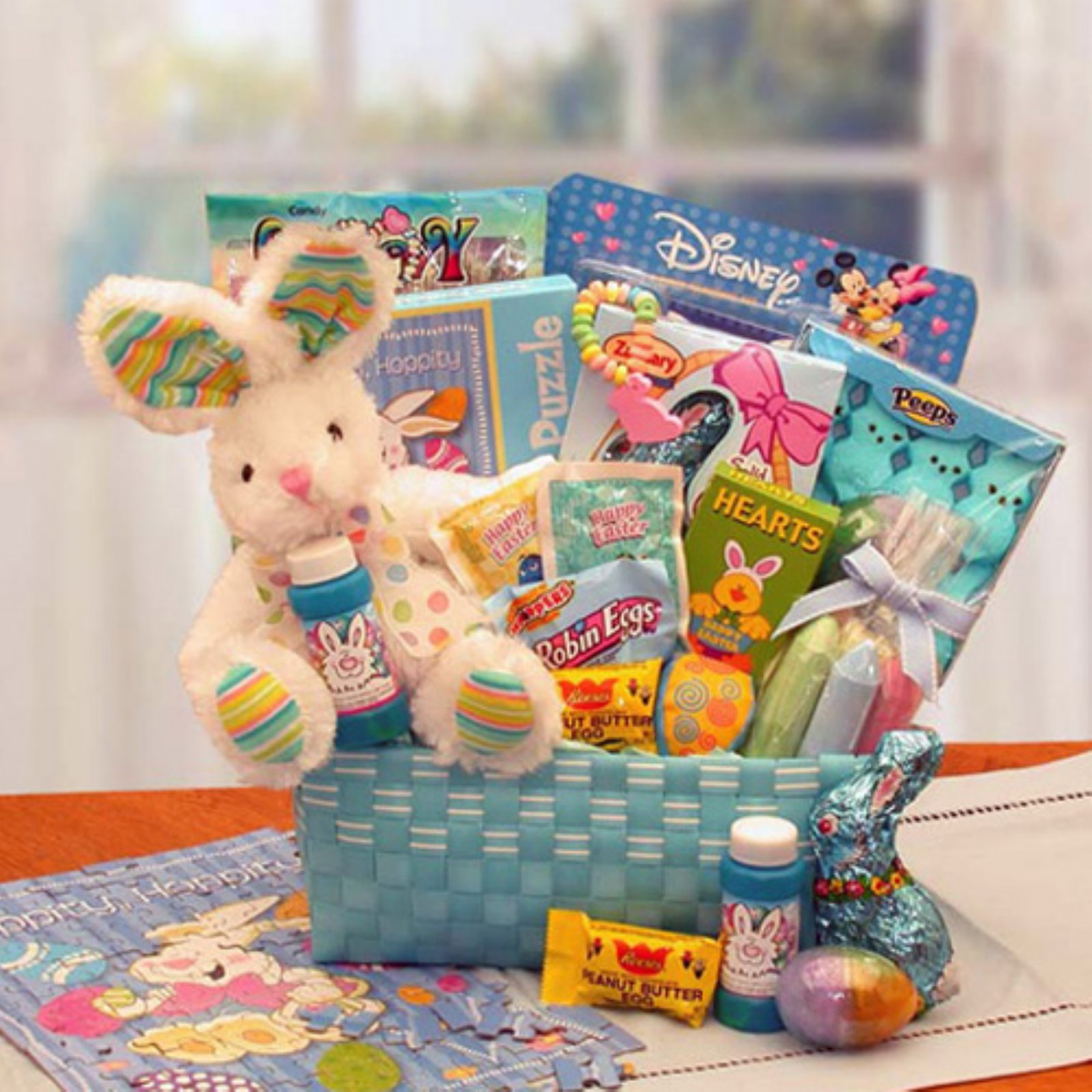 Little Cottontails Easter Activity Easter Basket - Blue