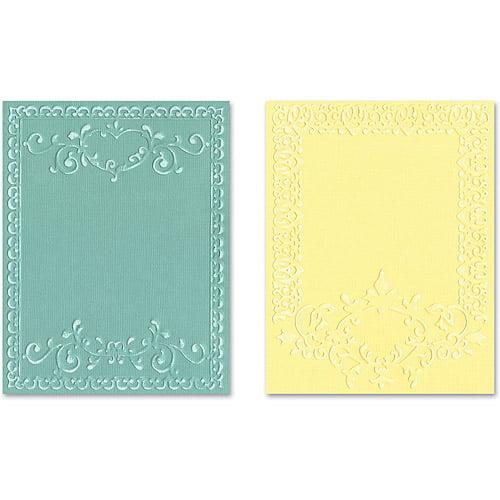 Sizzix Textured Impressions Embossing Folders, Ornate Frames Set