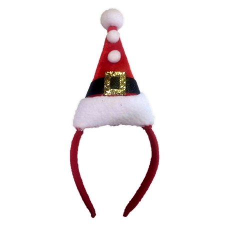 98d1da2c885f0 Santa s Hat On A Headband Christmas Elf Adult Children Red Costume Accessory  - image 1 ...