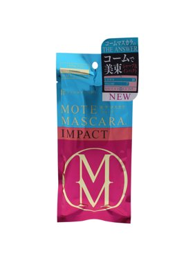 FlowFushi Mote Mascara Impact 02 Sharp Black for Women, 0.2 Ounce