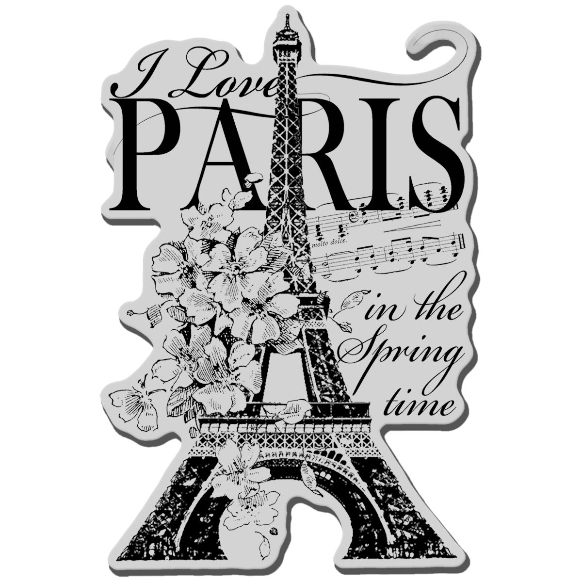 Stampendous Cling Stamp -I Love Paris