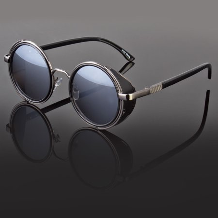 Round Metal Sunglasses Steampunk Men Women Fashion Glasses Brand Designer (Ted Baker Designer Glasses)