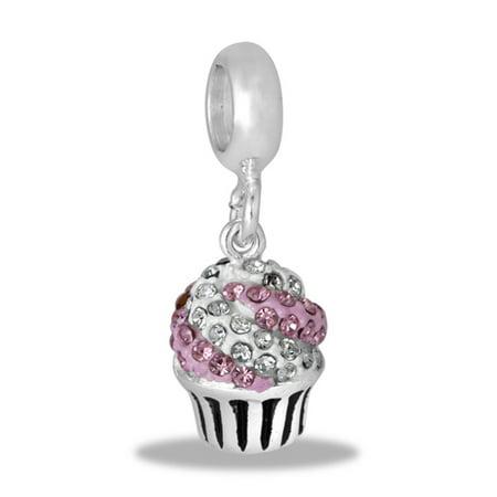DaVinci Beads CZ Pink Cupcake Interchangeable Jewelry DB92-8 - Cupcake Jewelry