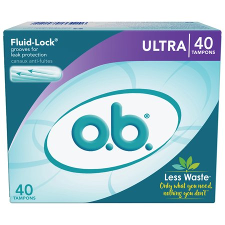 o.b. Applicator Free Digital Tampons Ultra Absorbency, (Certified Organic Tampons Non Applicator)