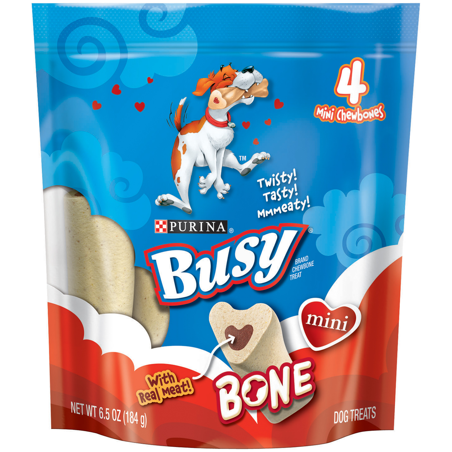 Purina Busy Bone Mini Dog Treats 4 ct Pouch