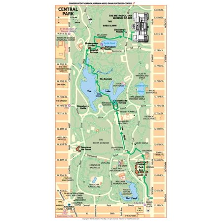 Michelin Official Central Park Map Art Print Poster - 13x19 - Halloween Event Central Park