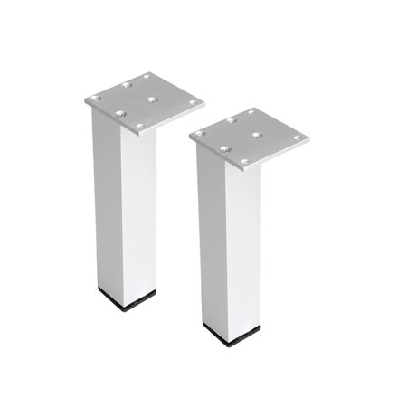 "10"" Furniture Legs Aluminium Alloy Table Feet Replacement Height Adjuster 2pcs - image 7 de 7"
