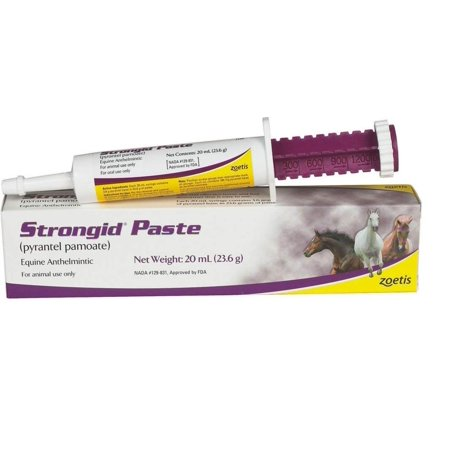 Strongid Dewormer Paste for Horses, 23.6gm, Equine wormer By