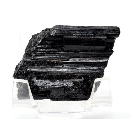 175ct 41mm Natural Columnar Black Tourmaline Crystal Rough Gemstone Schorl Mineral Cluster Specimen - Brazil