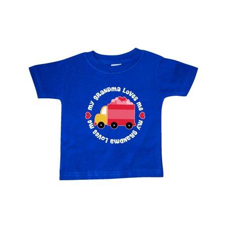 Grandma Loves Me Valentine Truck Kids Baby T-Shirt](Valentine Kids)