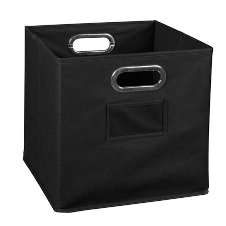 - Collapsible Home Storage Foldable Fabric Storage Bin- Black