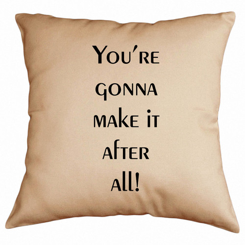 Retrospect Group You're Gonna Make It After All Cotton Throw Pillow