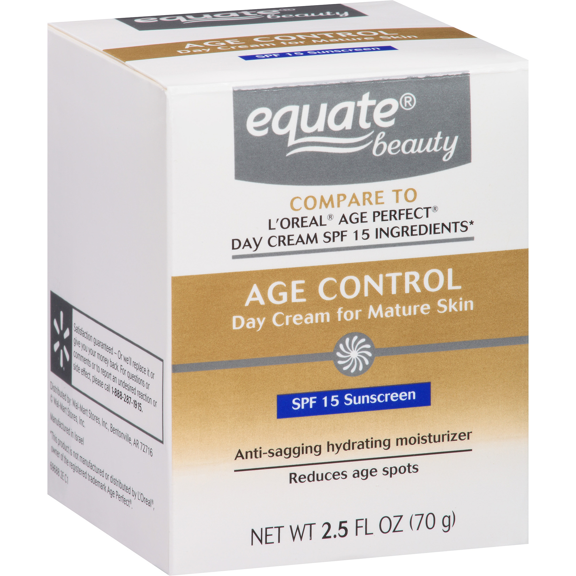 Equate Beauty Age Control Day Cream for Mature Skin, 2.5 fl oz