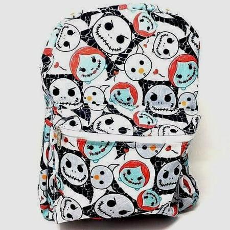 white disney nightmare before christmas jack sally skellington 16 backpack color - Nightmare Before Christmas Backpack