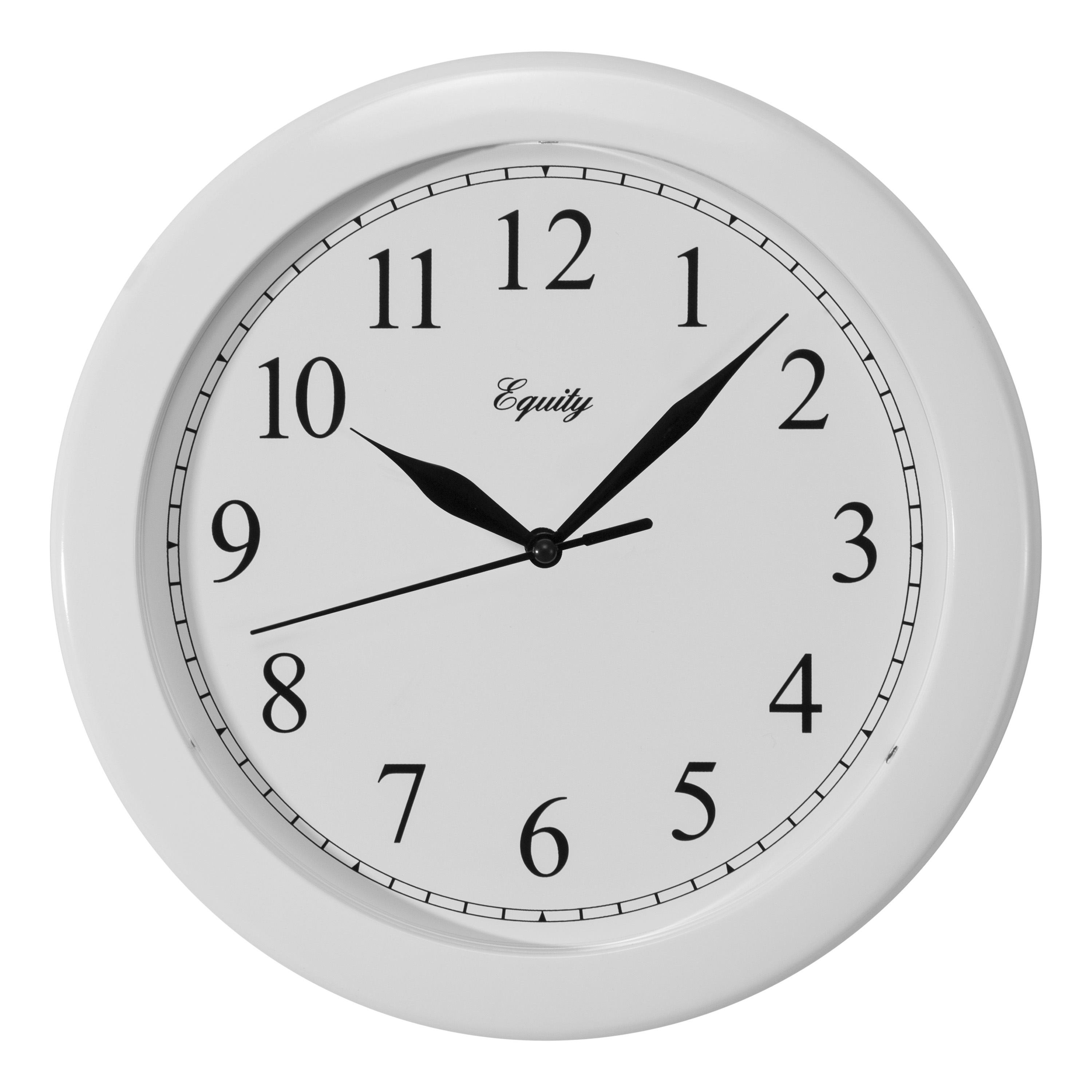 Equity by La Crosse 25201 10 Inch White Wall Clock