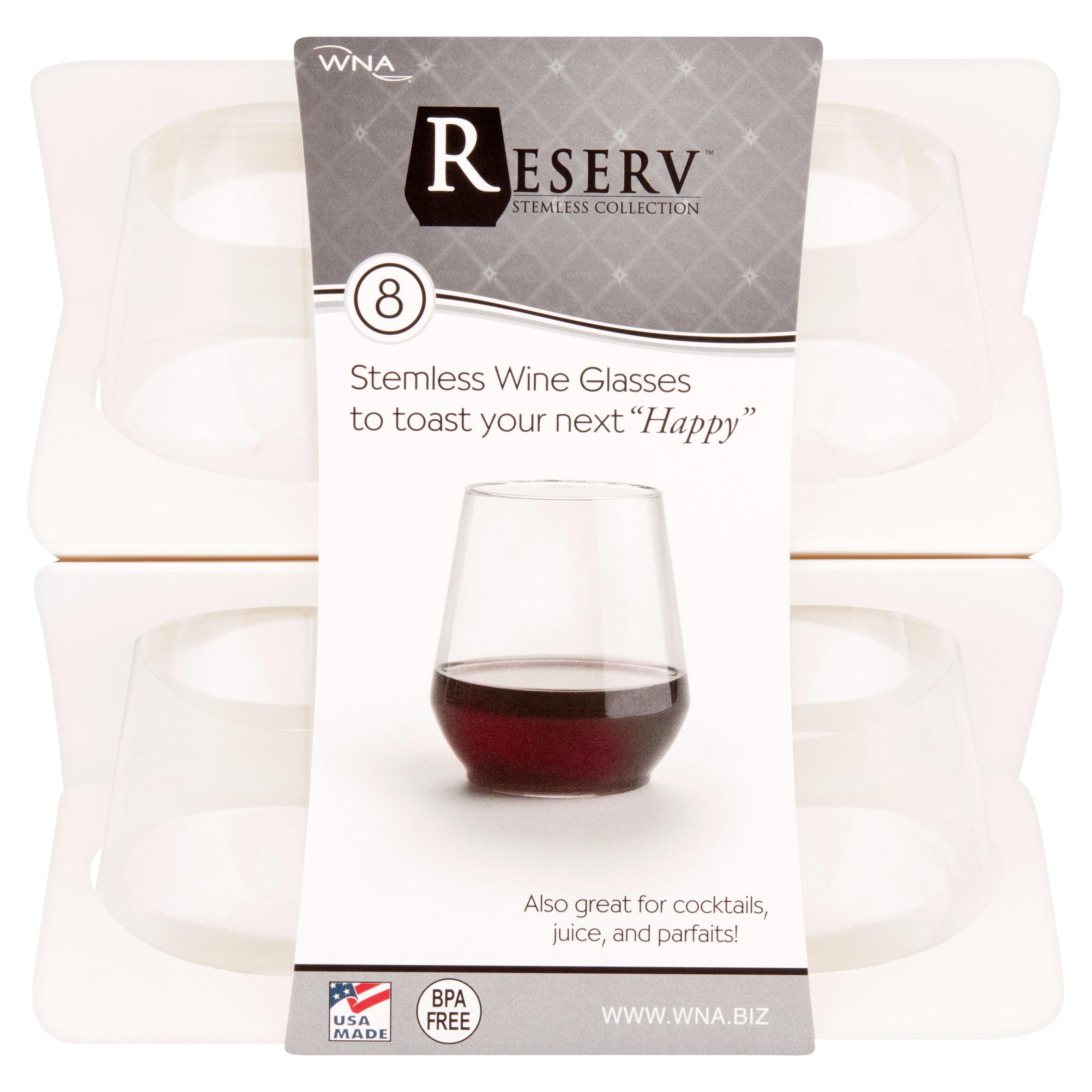 Reserve Plastic Stemless Plastic Wine Glasses, 8 count - Walmart.com