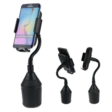 Universal Adjustable Gooseneck Cup Holder Cradle Car Mount For Cell Phone iPhone