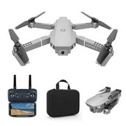 TBP Remote Control Foldable Drone E68 Quadcopter UAV with 1080P HD WIFI FPV 120°Wide-angle Camera,3 Batteries,with Carring Bag