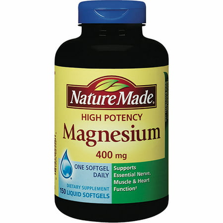 Nature Made 400mg High Potency Magnesium Liquid Softgels, 150 ct.