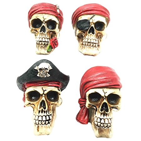 Set of Four Pirate Captain Marauders Caribbean Sea Terrors Collectible Figurine Nautical](Marauder Pirate)